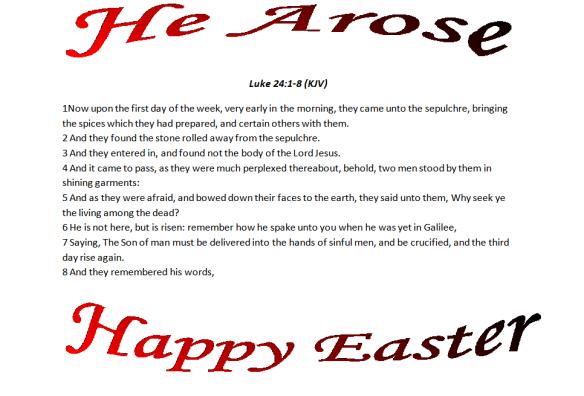 He arose blog