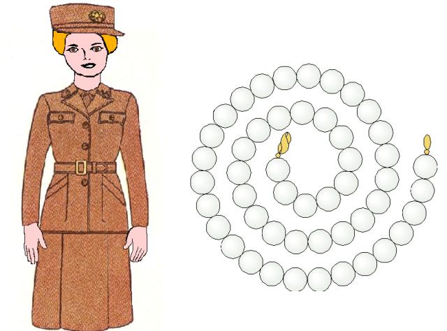WAC uniform and pearls